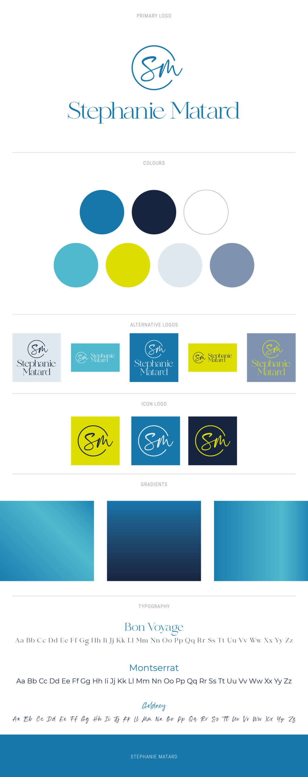 Stephanie Matard-Voiceover - brand logo and colours