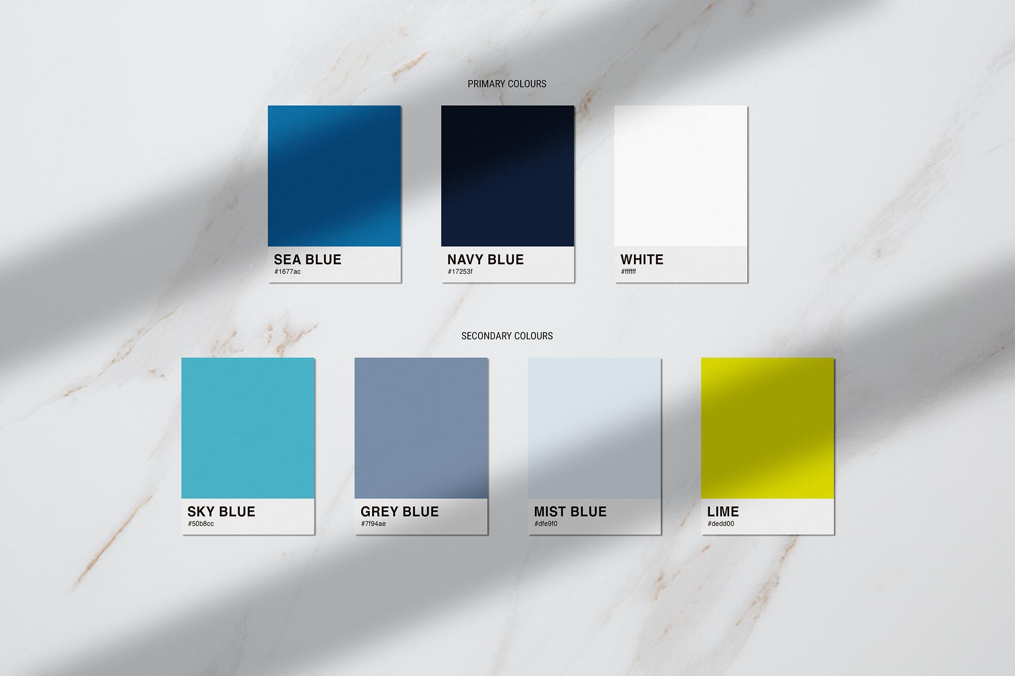 Stephanie Matard-Voiceover - brand colours