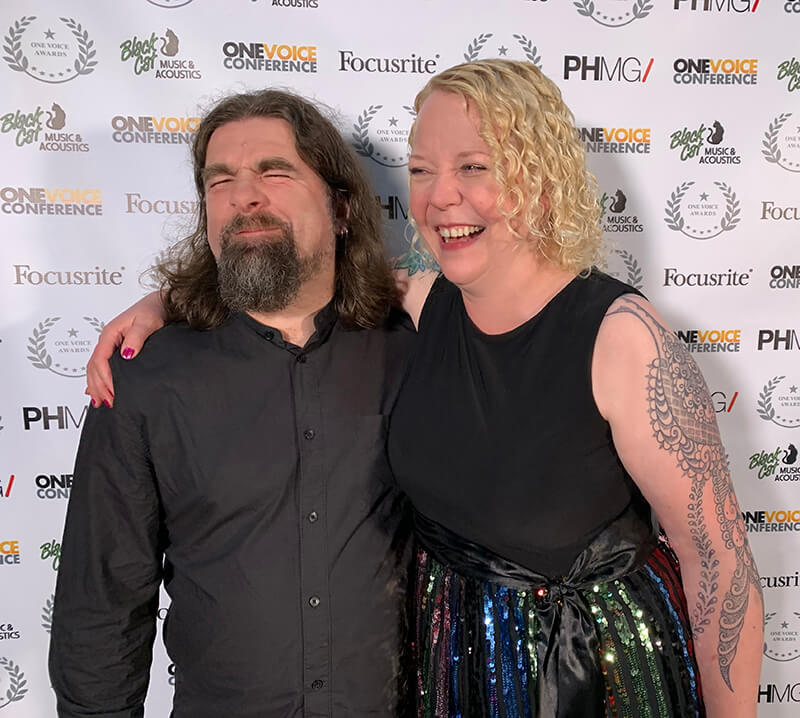 Rob Bee and Helen Bee at the OneVoice awards